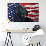 "USA Black Lab, Large Flag, 60 x 36"" with 2 grommets"
