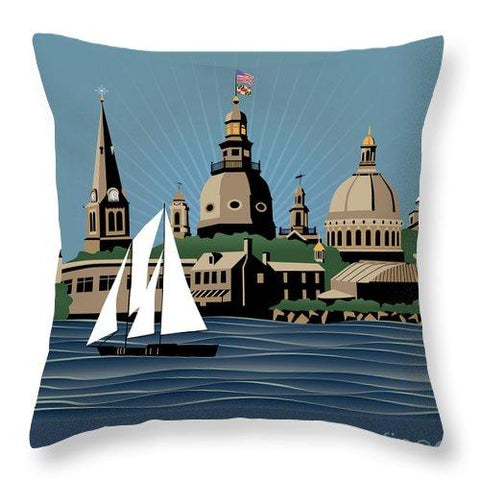 Annapolis Steeples and Cupolas Serenity - Throw Pillow square