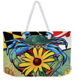 Blue Crab Maryland Black-eyed Susan - Weekender Tote Bag