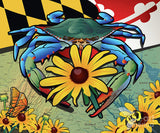 Blue Crab Maryland Black-eyed Susan - Art Print