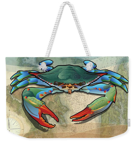 Coastal Blue Crab - Weekender Tote Bag