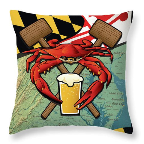 Maryland Crab Feast - Throw Pillow