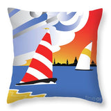 Wednesday Afternoon - Throw Pillow square