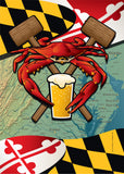 Maryland Crab Feast Garden Flag by Joe Barsin, 12x18