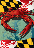 Maryland Red Crab Garden Flag by Joe Barsin, 12x18