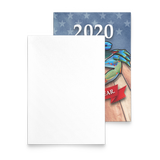 2020 USA Blue Crab wearing Face Mask, Holiday Cards with Envelopes