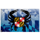 "Maryland Blue Crab Crest, Large Flag, 60 x 36"" with 2 grommets"