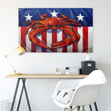"USA Steamed Crab, Large Flag, 60 x 36"" with 2 grommets"
