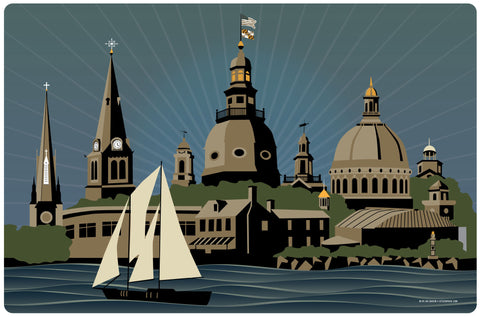 Annapolis Steeples And Cupolas Serenity, Doormat, 26x18""