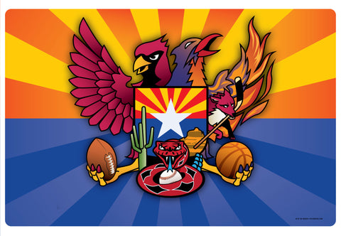 Arizona Sports Fan Crest, Doormat, 26x18""