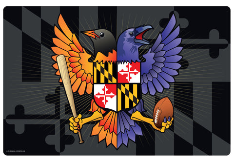 Birdland Baltimore Maryland Crest, Doormat, 26x18""