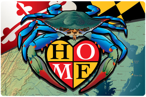 "Maryland Blue Crab ""Home"" Doormat, 26x18"""