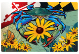 Maryland Blue Crab Black-Eyed Susan Doormat, 26x18""
