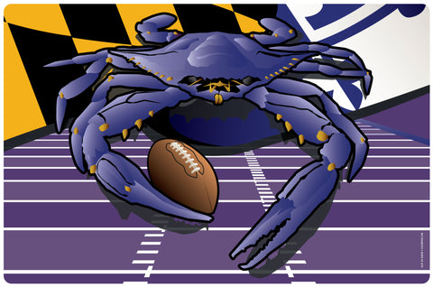 Ravens Sports Crab of Baltimore Doormat, 26x18""