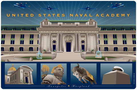 US Naval Academy Monuments Annapolis, Doormat, 26x18""