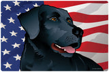 USA Black Lab, Doormat, 26x18""