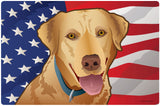 USA Yellow Lab, Doormat, 26x18""