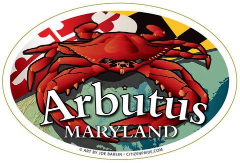 Arbutus Maryland Crab Oval Magnet, 6x4