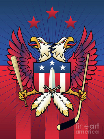 Washington DC Double Eagle Sports Fan Crest - Art Print