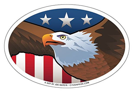 USA Bald Eagle Oval Magnet, 6x4