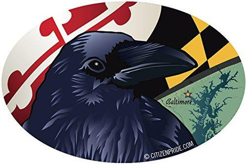 Baltimore Raven Oval Window Decal, 6x4