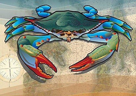 Coastal Blue Crab Card Pack of 10, Art by Joe Barsin