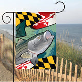 Display of Maryland Rockfish Garden Flag by Joe Barsin