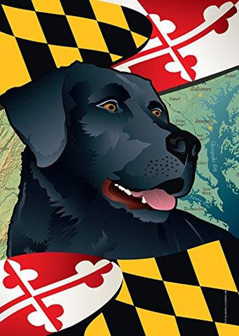Maryland Black Lab Large House Flag by Joe Barsin, 28x40