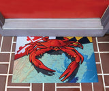 Maryland red crab Door Mat