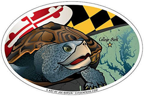 Maryland Terrapin Oval Sticker, 6x4