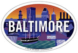 Baltimore Skyline Oval Magnet, 6x4
