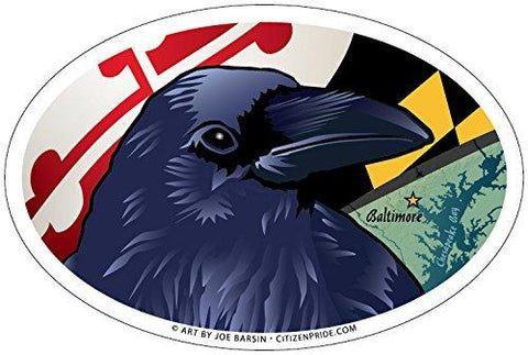 Baltimore Raven Oval Magnet, 6x4