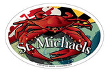 St Michaels Maryland Red Crab Oval Magnet, 6x4