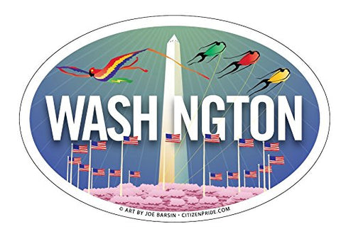 Washington DC skyline Oval Magnet, 6x4