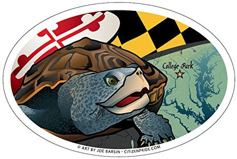 Maryland Terrapin Oval Magnet, 6x4