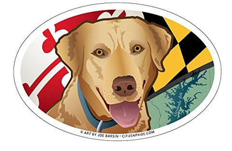 Maryland Yellow Lab Oval Magnet, 6x4