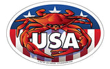 Red Crab USA Oval Magnet, 6x4