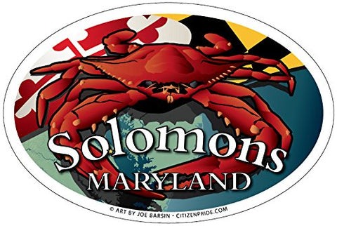 Solomons Maryland Red Crab Oval Magnet, 6x4