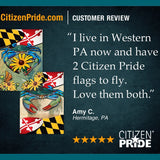 Maryland Black-eyed Susan Blue Crab Flag customer review