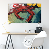 "Maryland Red Crab, Large Flag, 60 x 36"" with 2 grommets"