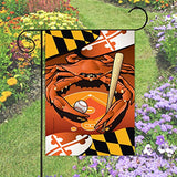 Display of Orioles Sports Crab of Baltimore Garden Flag by Joe Barsin