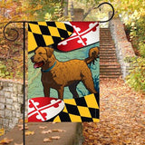Display of Maryland Chessie Garden Flag by Joe Barsin, Chesapeake Bay Retriever