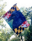 Fan photo of Maryland Raven Large House Flag by Joe Barsin