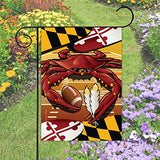 Display of Redskins Sports Crab of Washington Garden Flag by Joe Barsin