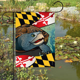 Display of Maryland Terrapin Garden Flag by Joe Barsin