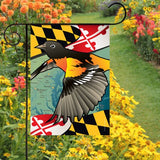 Display of Maryland Oriole Garden Flag by Joe Barsin
