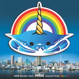 Unicorn Crab with Rainbow over Baltimore