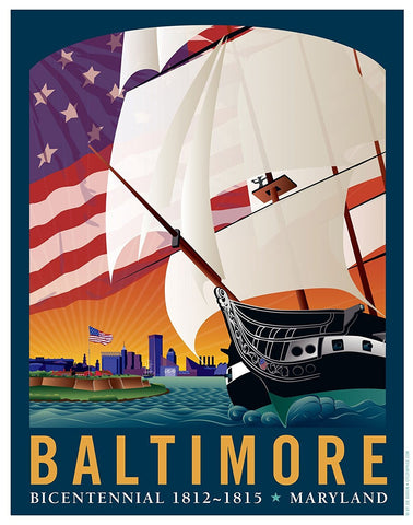 Baltimore: By The Dawn's Early Light Art Print by Joe Barsin, 11x14
