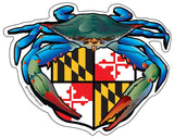 Blue Crab Maryland Crest Large Decal