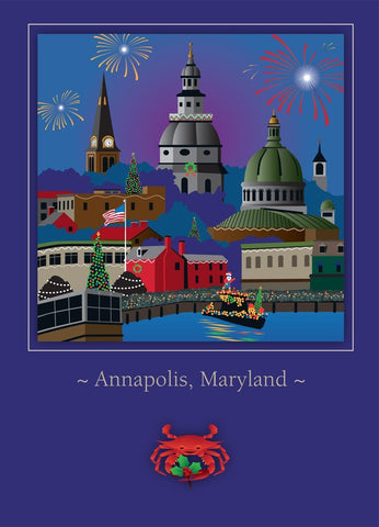 Annapolis Holiday Card by Joe Barsin, 5x7